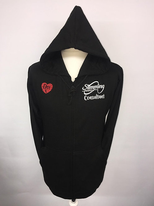 Slimming World Black Zipped Hoody - Consultant Luxury Glitter