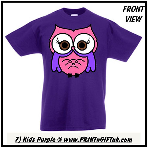 Kids Bright Night Owl T-Shirt