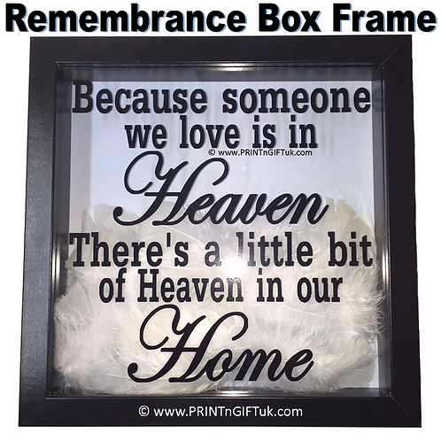 Someone We Love Remembrance Box Frame