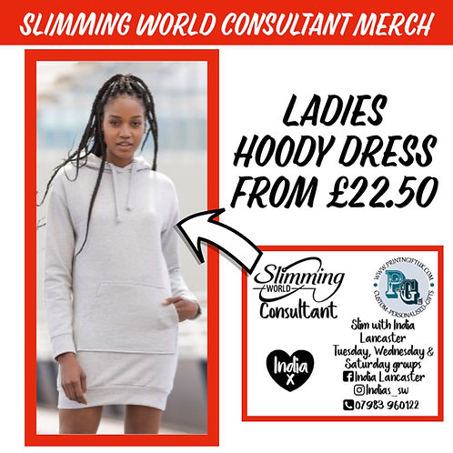 Slimming World Consultant Girlie Hoody Dress STANDARD VINYL