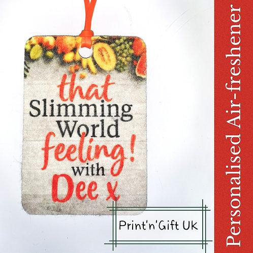 Slimming World Air-freshener - personalised