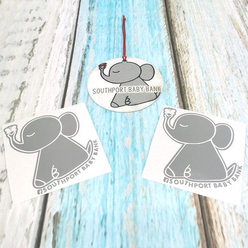 Baby Bank Charity Sticker & Air-freshener