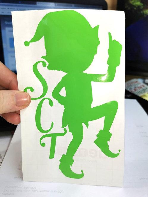 Southport Xmas Trail Window Sticker