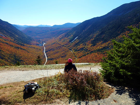 Bea hiking crawford notch.