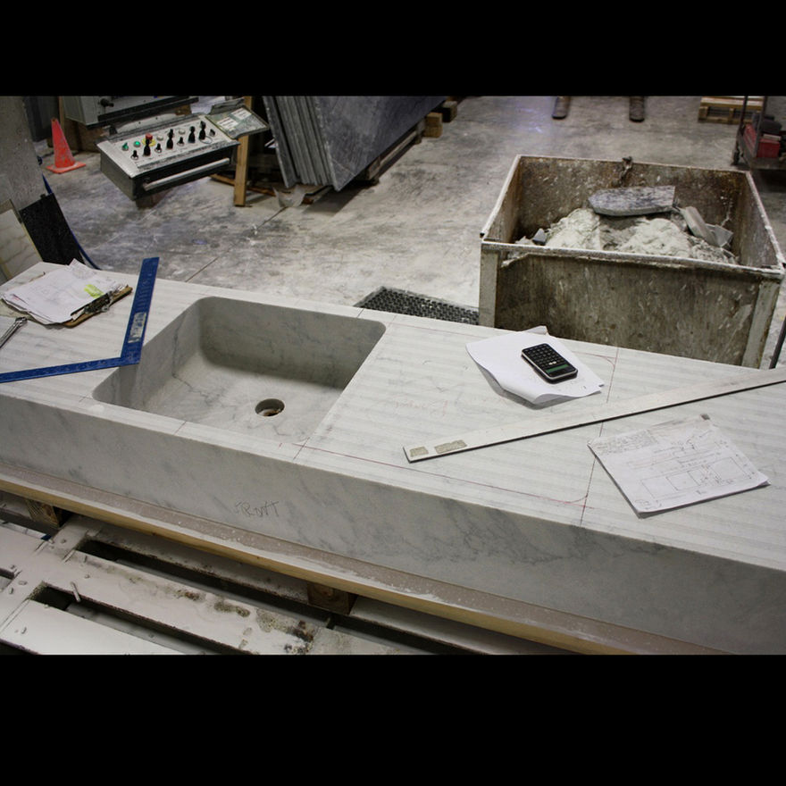 Scott and Scott Architects (custom marble sink fabrication) Scott and Scott Architects Vancouver Canada