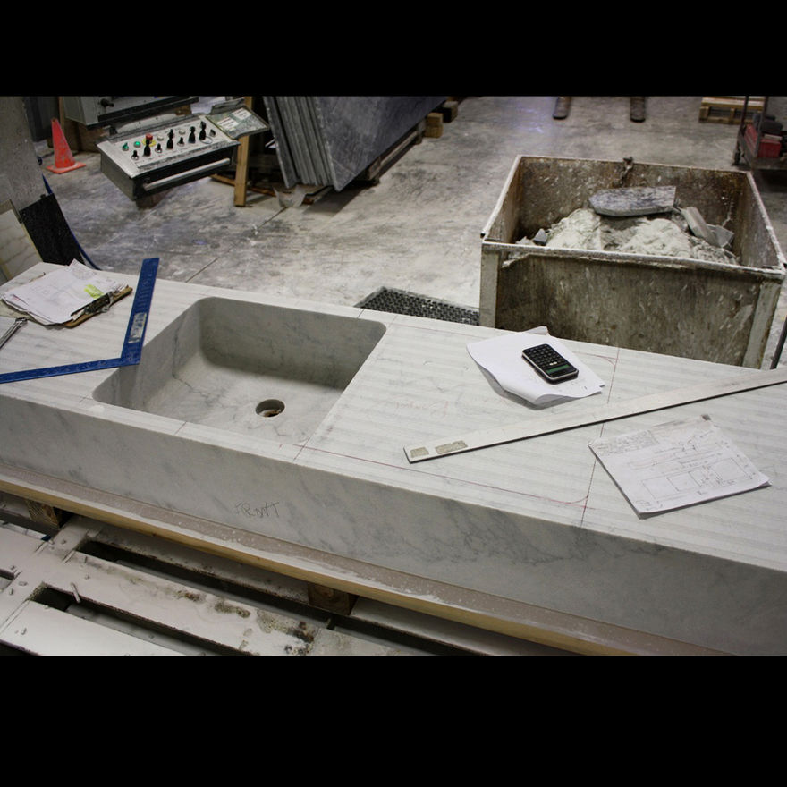 Scott and Scott Architects (custom marble sink fabrication) Scott and Scott Architects Vancouver Canada