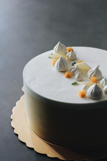 Mango Coconut Mousse Cake