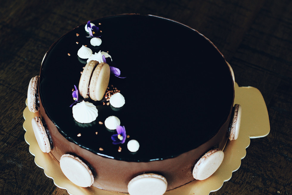 Jasmine Hazelnut Chocolate Mousse Cake