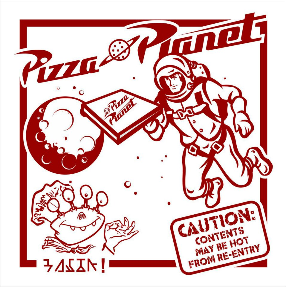 Pizza Planet box cover