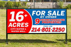 Custom Real Estate Sign