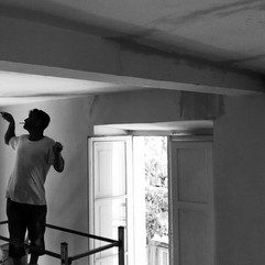 Adriano paints ceilings