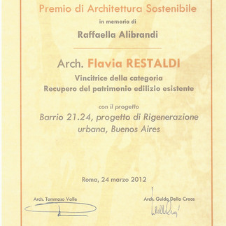 Barrio 21.24 won 2012 Alibrandi Award