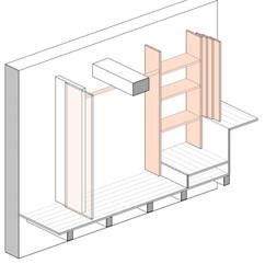 dressing shelves