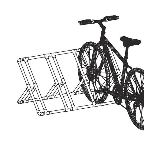 Bike rack ready to use