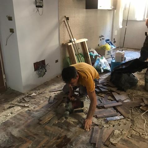 Parquet's demolition by Adriano