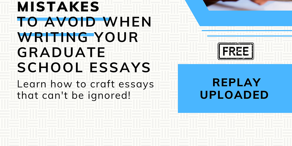5 Critical Mistakes to avoid when writing your graduate essays