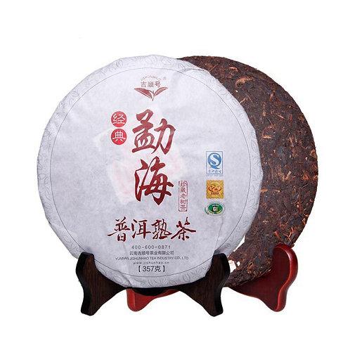 Шу Пуэр блин Мэнхай 2012г (勐海熟普洱茶) -357г