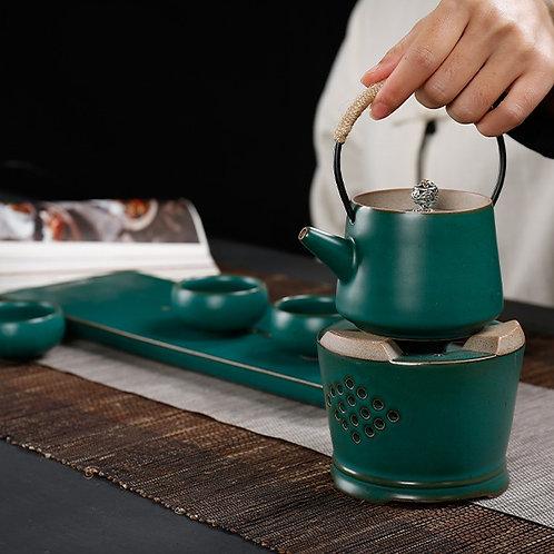 Чайник на подставке с горелкой