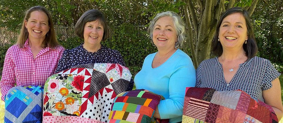 Kirsten Hoseman, Laura Nownes, Pati Fried and Julia McCleod See How We Sew contributors