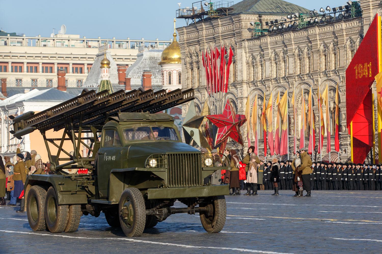 Ноябрьский парад на Красной площади
