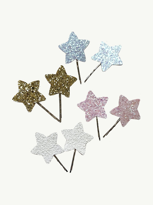Coppia Mollette Glitter Stella - Illy Trilly accessories