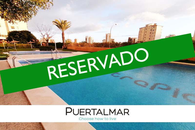 Piso en Cabo de las Huertas - Alicante.  1 Hab, 1 baño, Garaje, Piscina y Urba