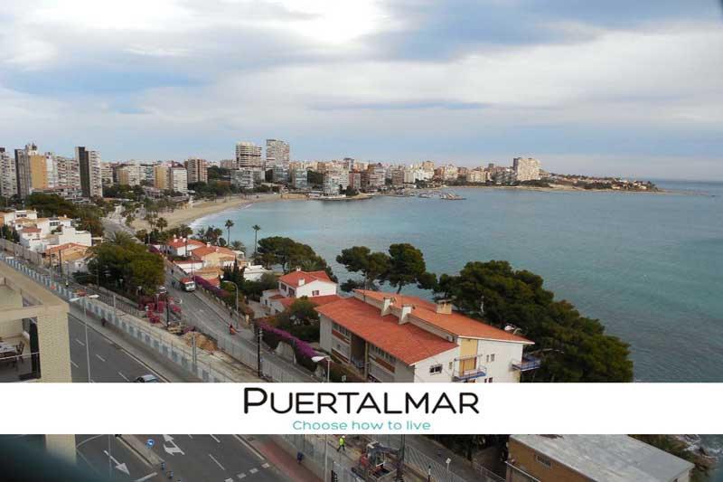 Ático vista al mar - Alicante.  5 Hab - 4 baños - Garaje