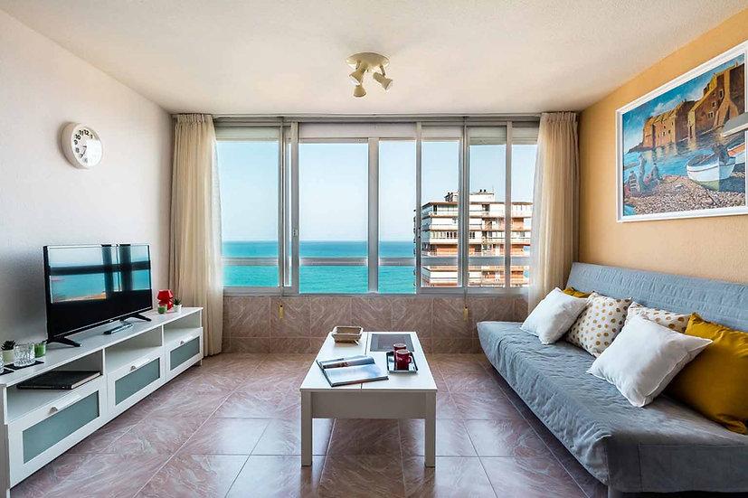 Piso en Av. Villajoyosa - Playa Albufereta - Alicante:  1 Hab, 1 baño