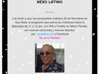 ENTREVISTA CON NEXO LATINO EN MIAMI FL.