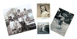 examples of old family photographic prints that can be digitized.