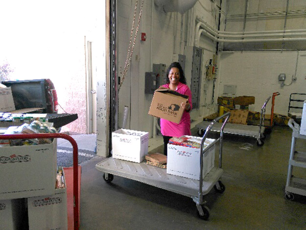 Trip to the food bank
