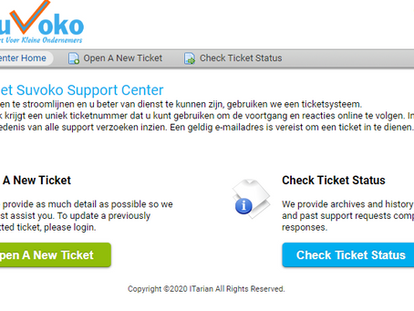 Nieuwe Suvoko Helpdesk is on-line
