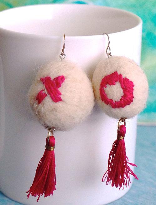 X's & O's Drop Earrings
