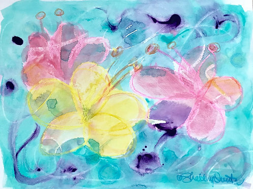 Hibiscus Abstract Print