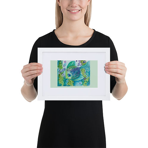 Tropical Fish Matte Paper Framed Poster With Mat