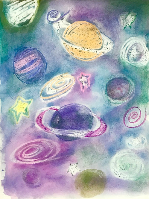 Planets Abstract Print