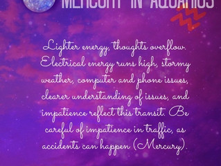 Mercury Retrograde in Aquarius