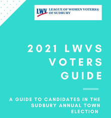 2021 LWV Sudbury Voters' Guide Now Live!
