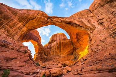 Double Arch in the evening, Arches natio