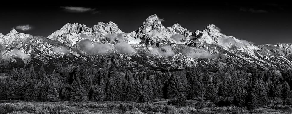Teton Range in Early Snow