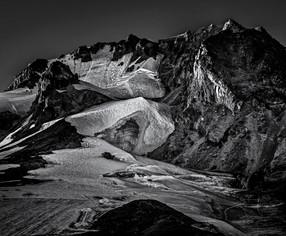 Last Light on Peak of Mt Hood