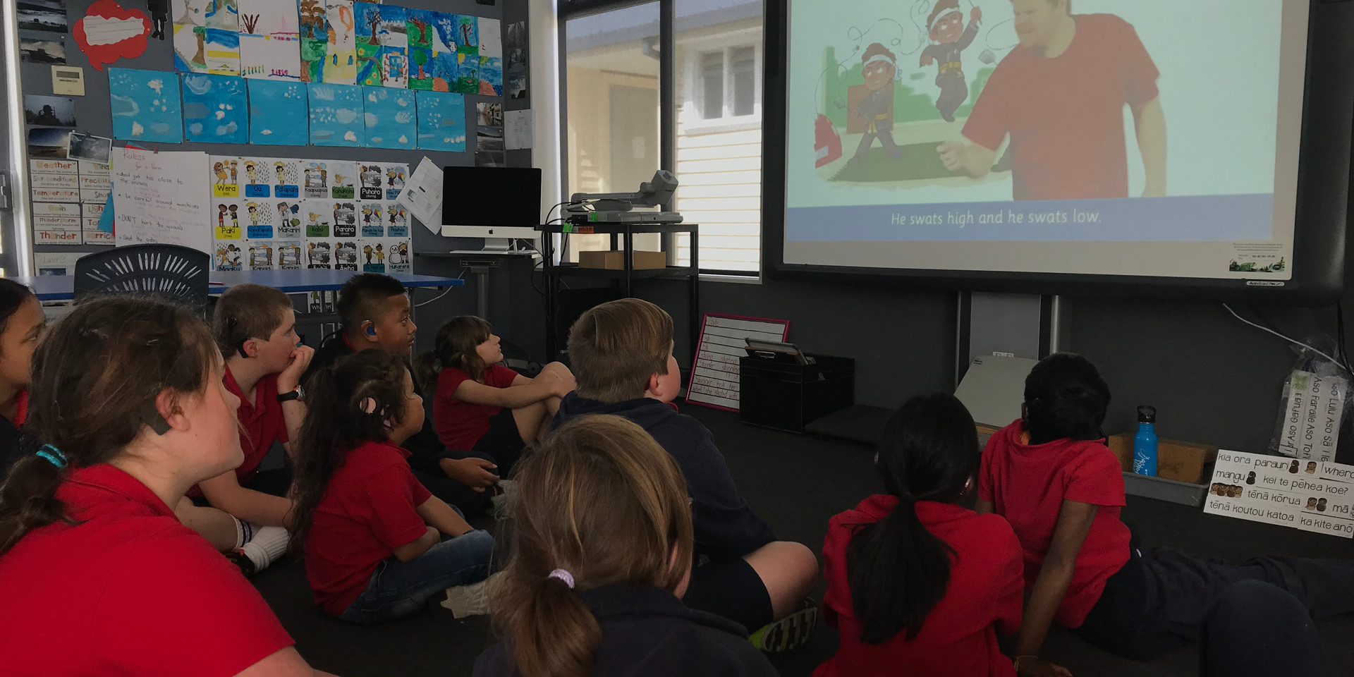 Deaf Students watching the Sign Language