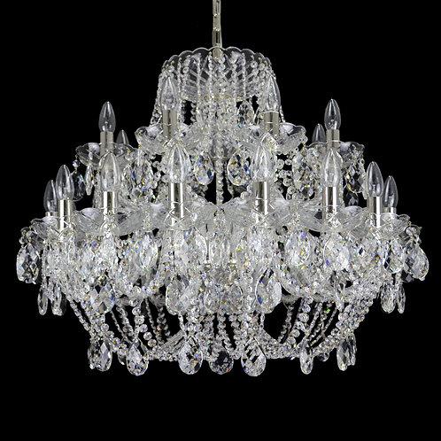 Impressive 24 Bulb Crystal Chandelier