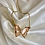 Thumbnail: Pink Crystal Butterfly Necklace