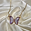Thumbnail: Purple Crystal Butterfly Necklace