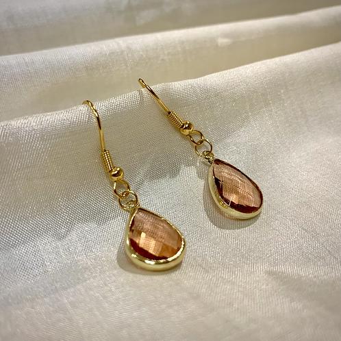 Pink Pendant Earrings