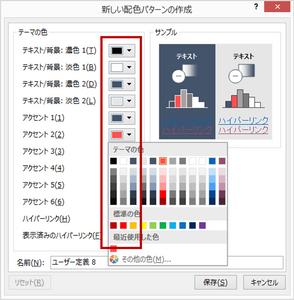 パワーポイント資料のテーマの色