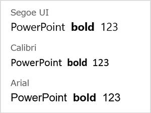 パワーポイント資料の欧文フォントの使い方