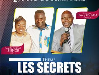 Séminaire, les secrets de la bénédiction