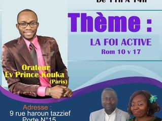 Nous invitons l'évangile de la foi Active